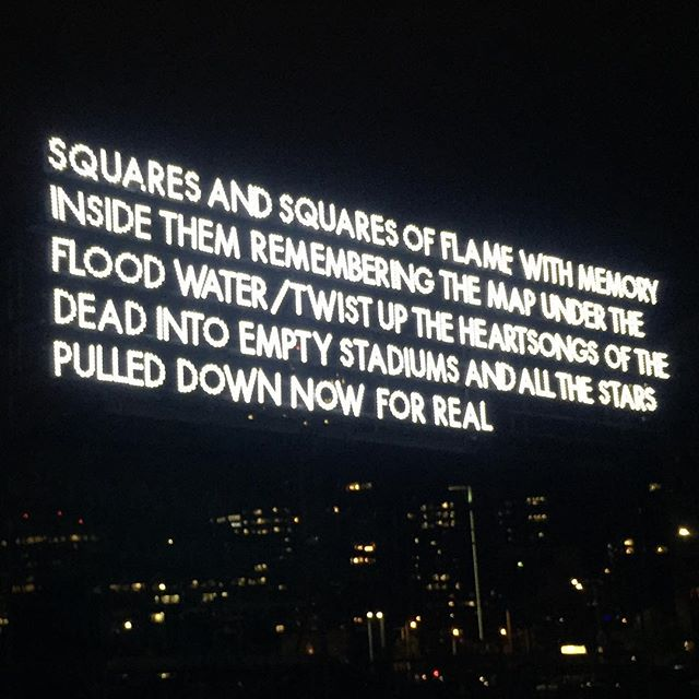 Last looks! Thank you #robertmontgomery for the words. #allriseseattle #robertmontgomeryghost