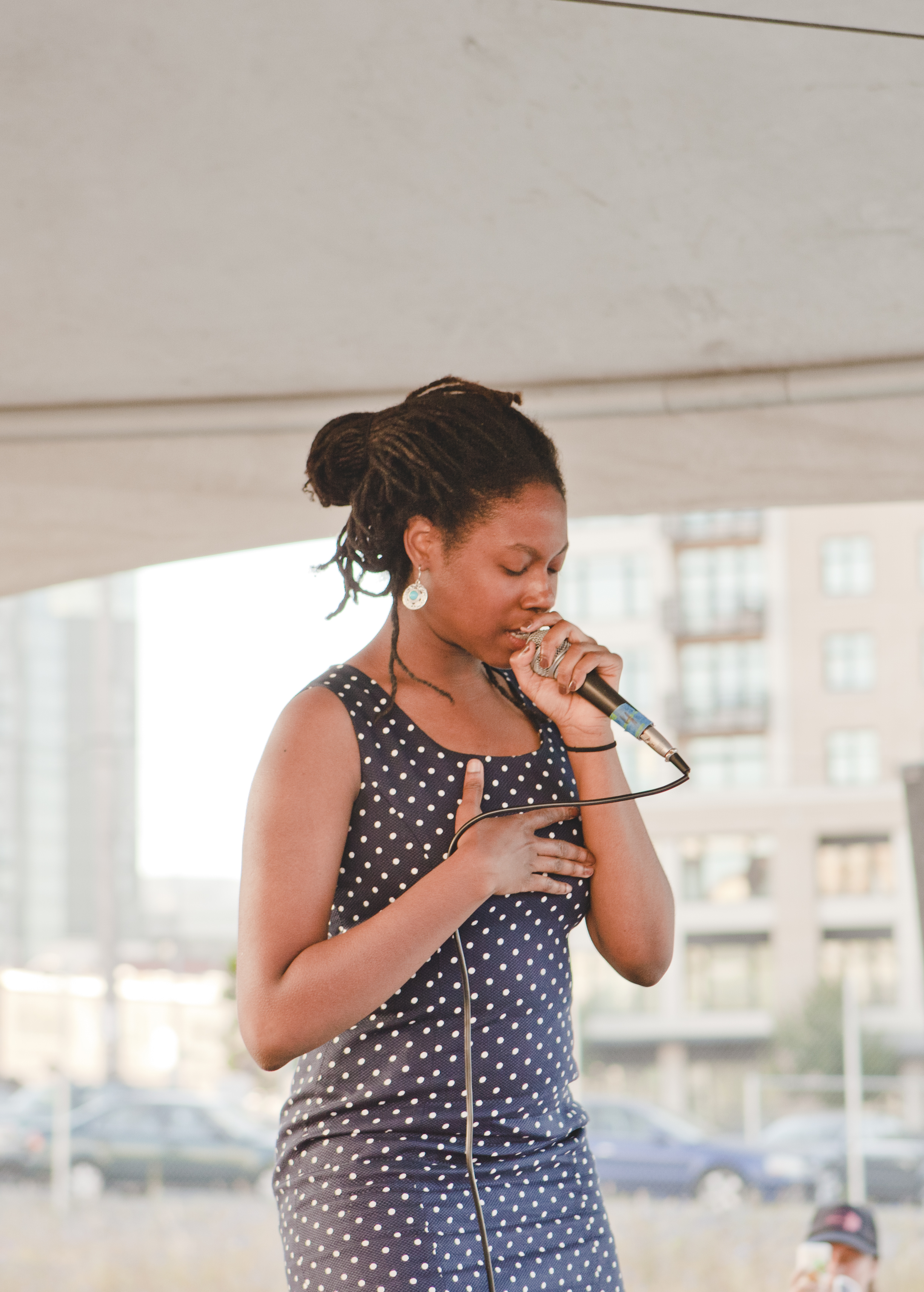 Amenta Abioto plays Quiet Music Festival at ALL RISE. Photo Max Cleary