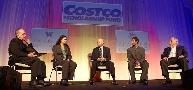 Ten years later I would be sharing the stage with Jeff Brotman and Jim Senegal at the 10th annual Costco Breakfast.   Throughout the