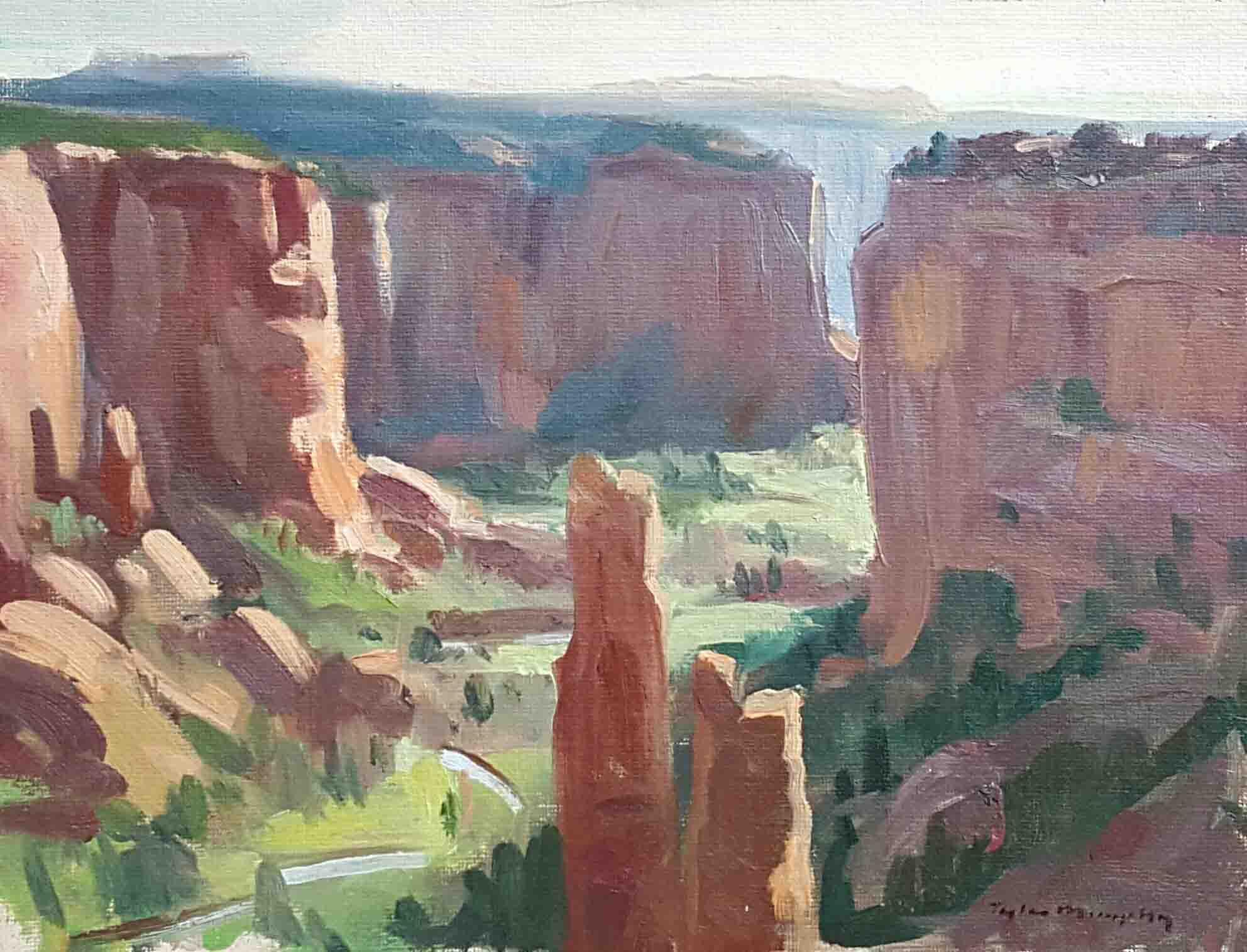Morning at Canyon De Chelly 9x12.jpg