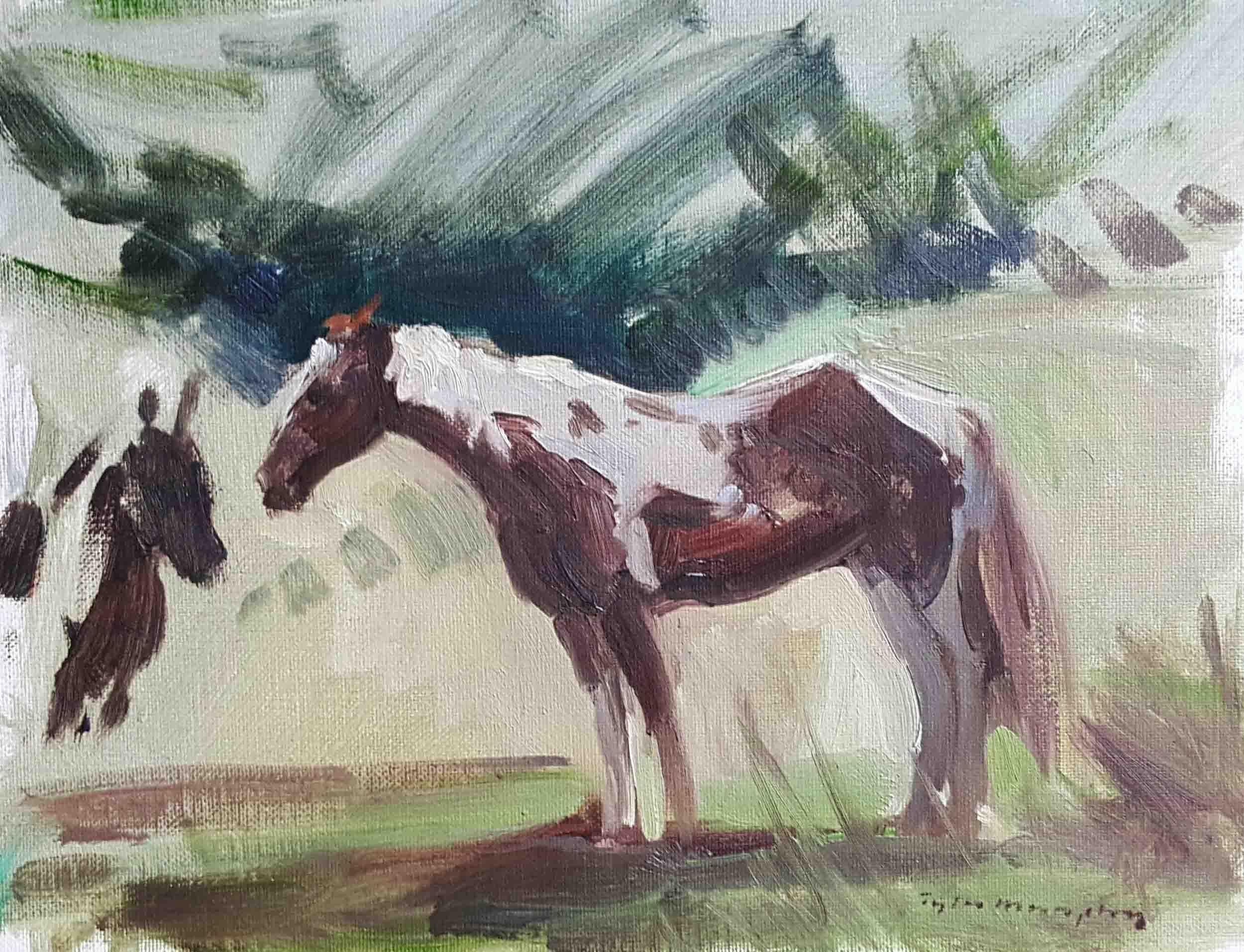 Horses Sketch 12x16.jpg