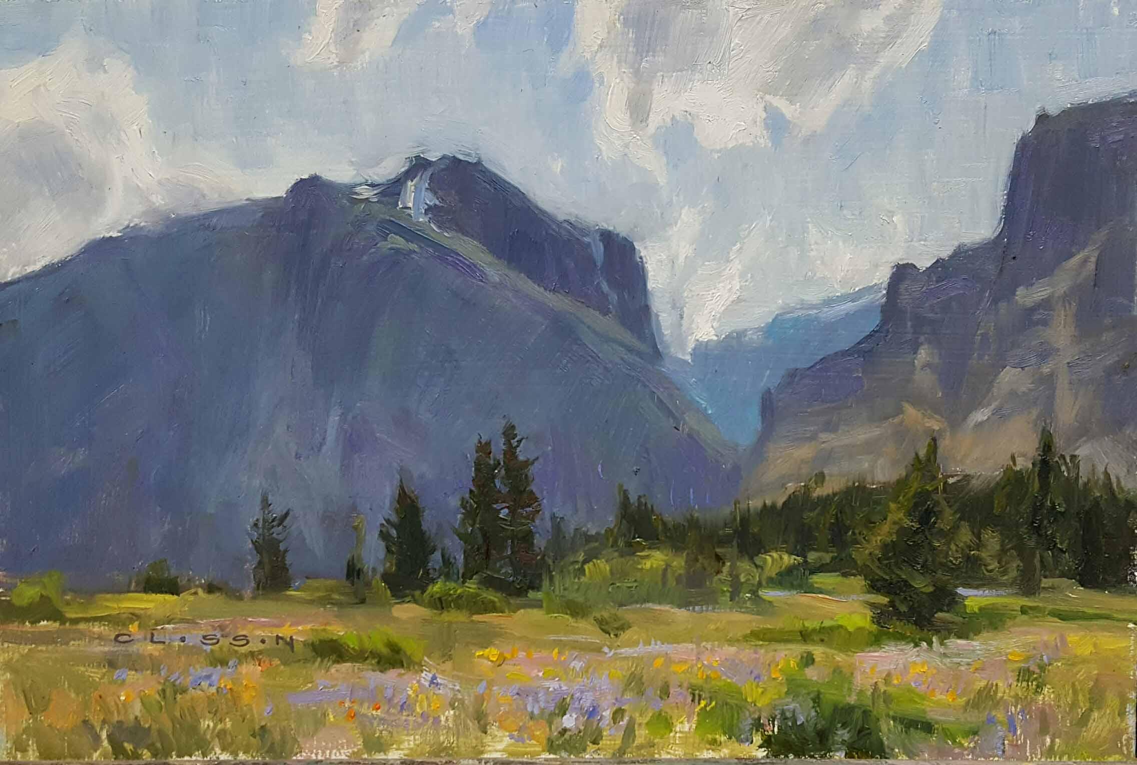"Nate Closson ""Glacier Flowers"" 8 x 12 unframed $500"