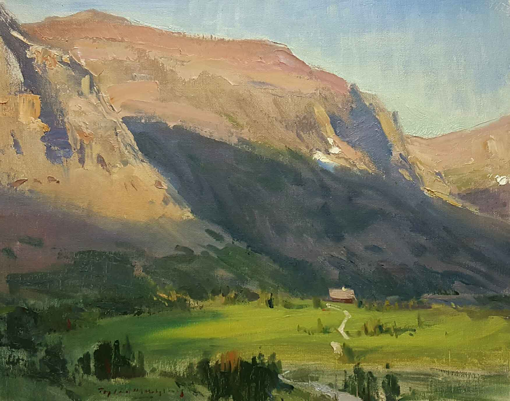 """Tyler Murphy """"Glacier"""" 11 x 14 unframed $450"""