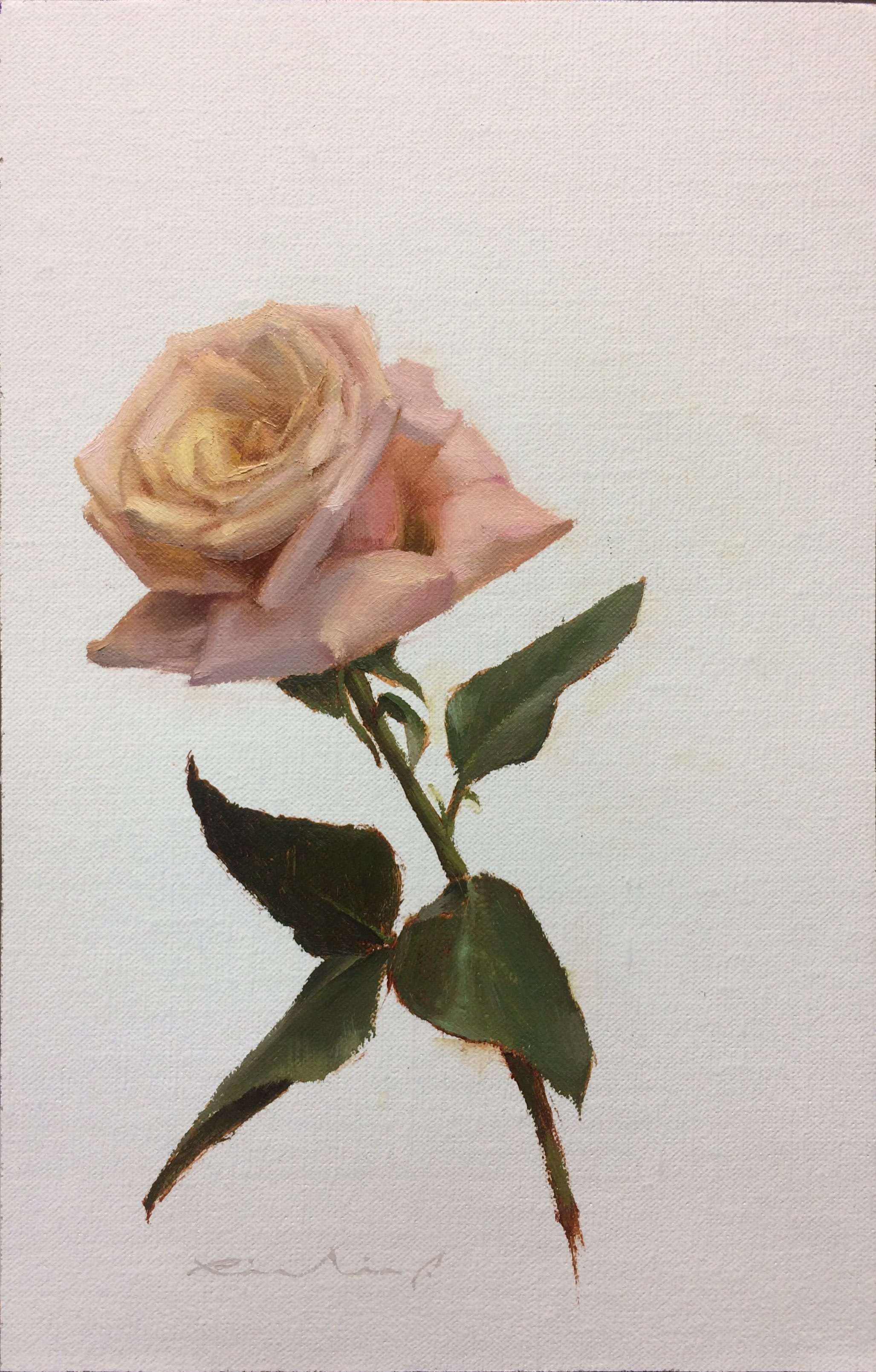 """Bed of Roses 3""  $650.00  8 x 12 inches 
