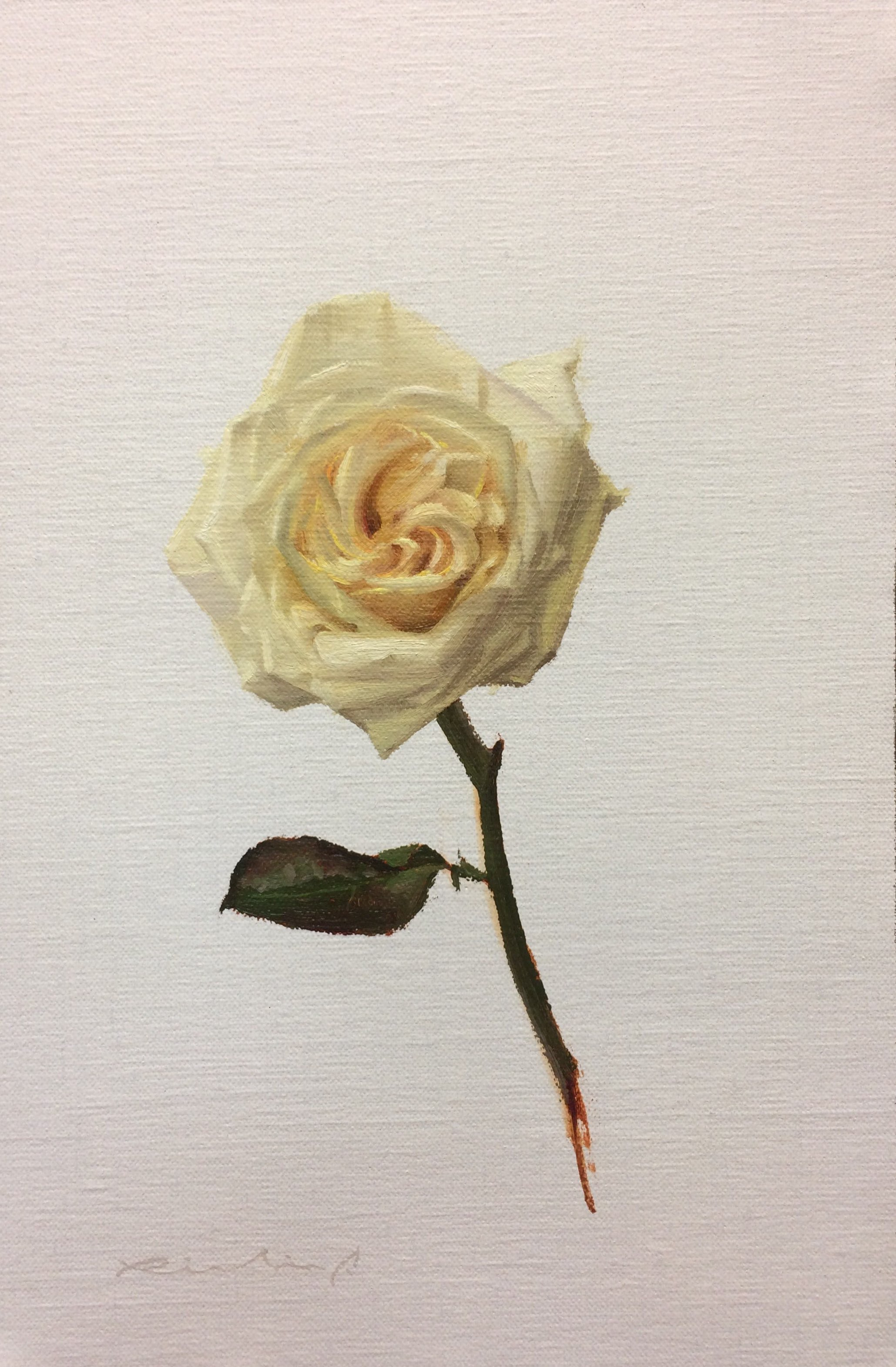 """Bed of Roses 5""  $650.00  8 x 12 inches 