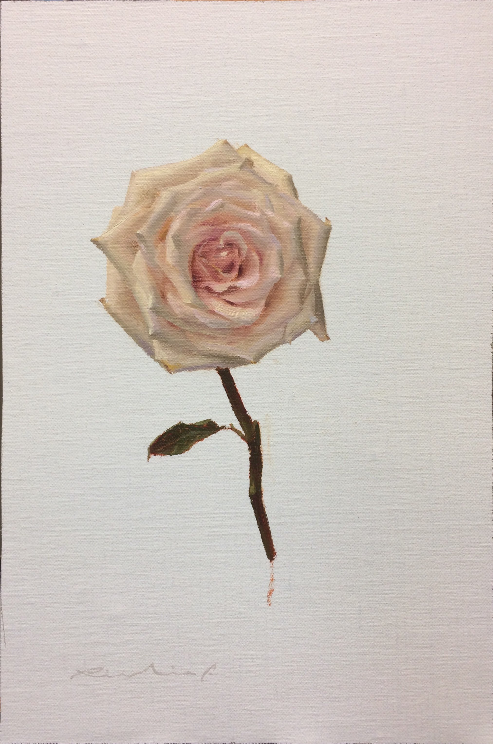 """Bed of Roses 7""  $650.00  8 x 12 inches 