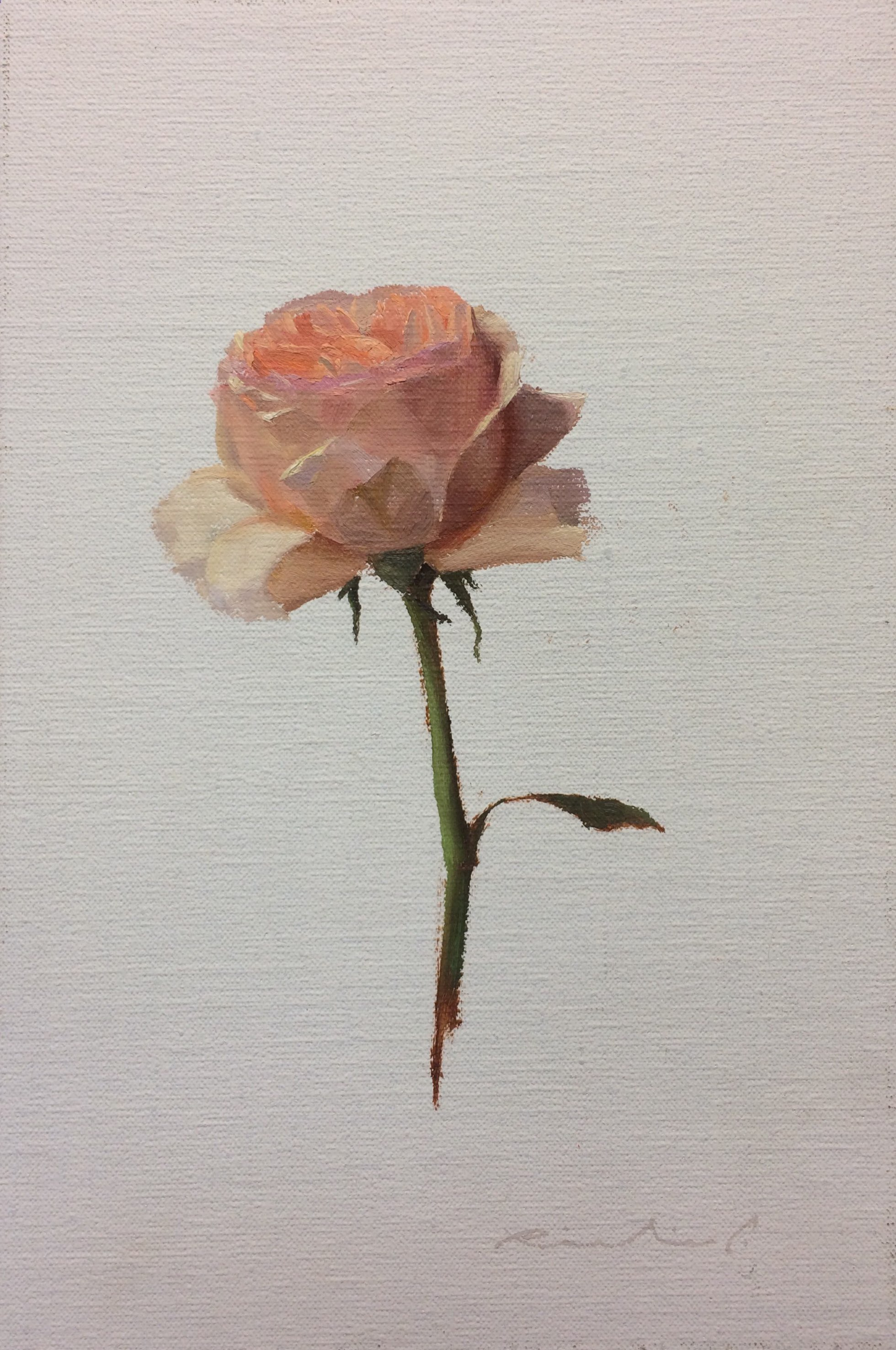 """Bed of Roses 9""  $650.00  8 x 12 inches 