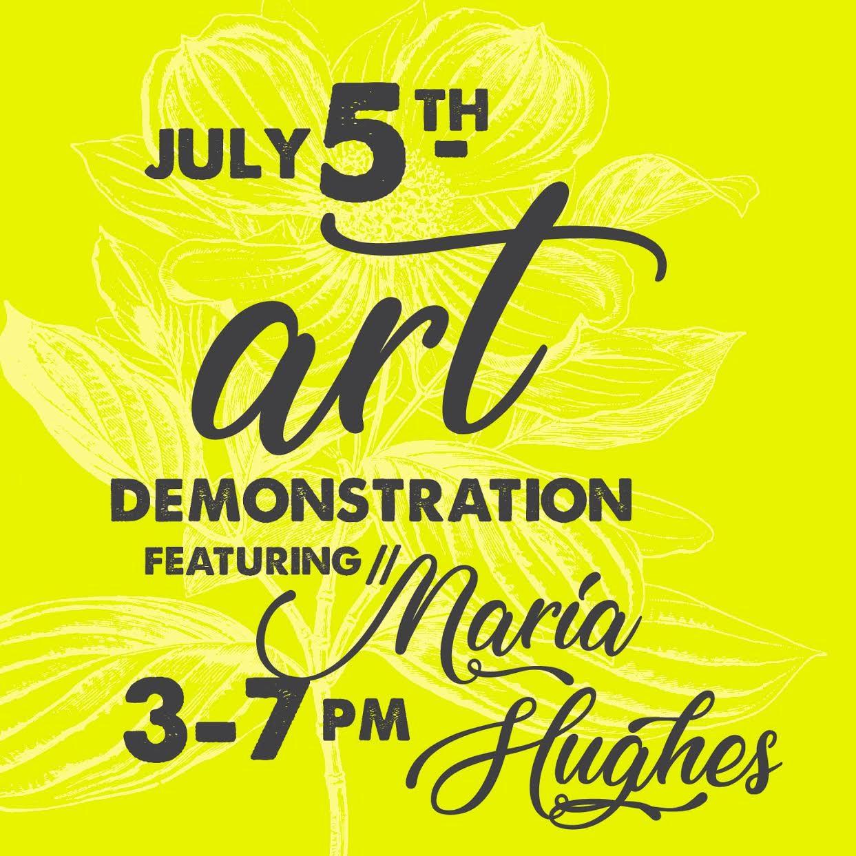 Maria Hughes Caron Gallery Art Demo