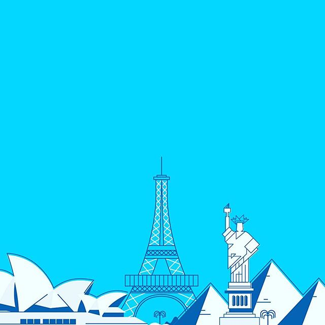 So glad we got to collaborate with these lovely ladies @wearecreamrva 🙋🏽♀️🙋🏼♀️🙋🏻♀️ #design #vector #graphicdesign #illustration #city #cities #gwu #university #eiffeltower  #statueofliberty #operahouse #pyramid #travel