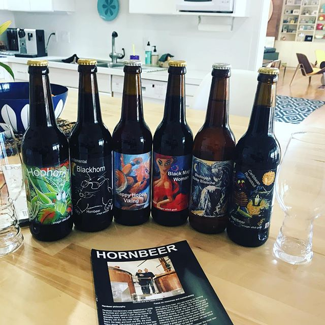 This is the hardest part of our job. Trying world class ales from our friends at HornBeer. Some heavy hitters here for sure. #beer #craftbeer #craftyimports @hackneycarriageimports