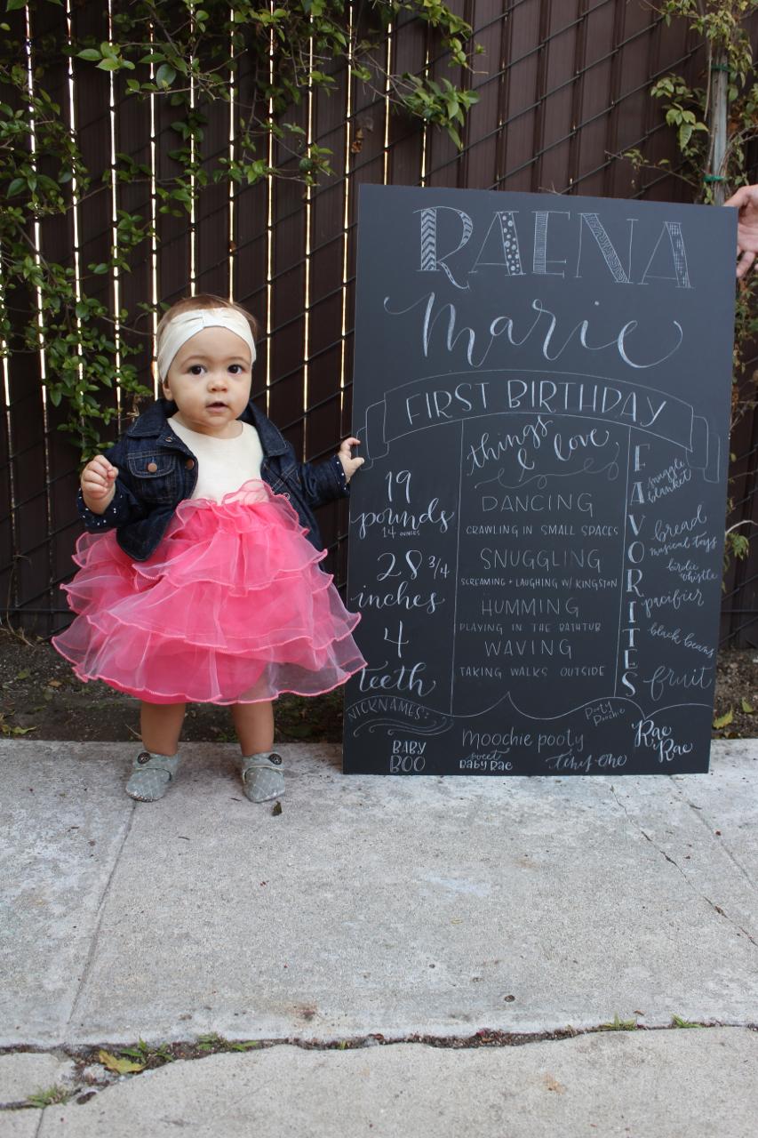 Raena's first birthday