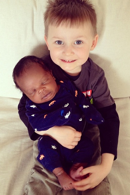 David + Erica's firstborn son, Callum and second born son, Tobin.