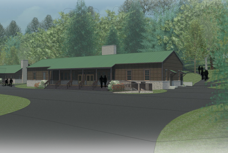 Rendering of remodeled West Lodge