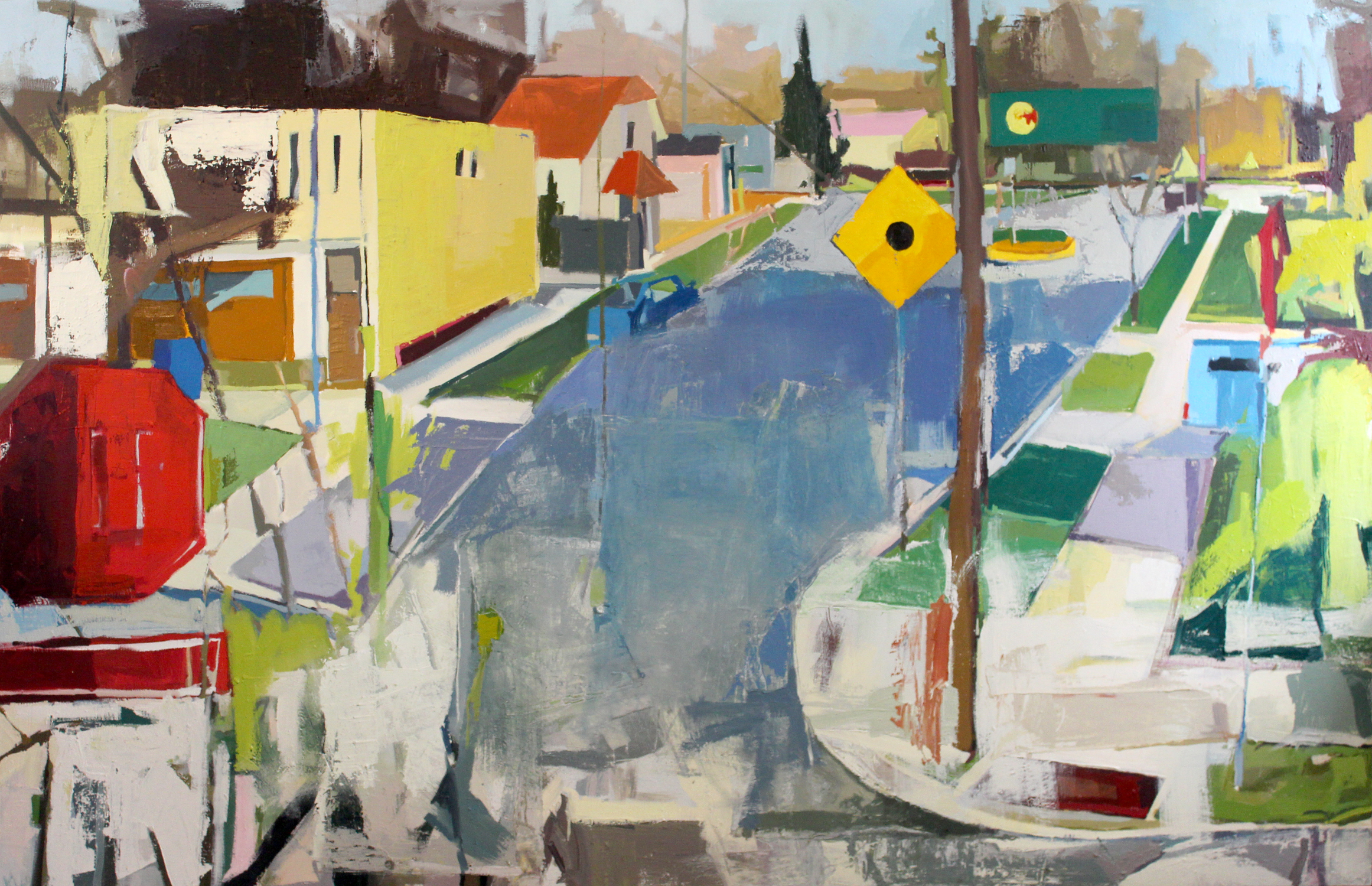 Street , Oil on Canvas, 2014