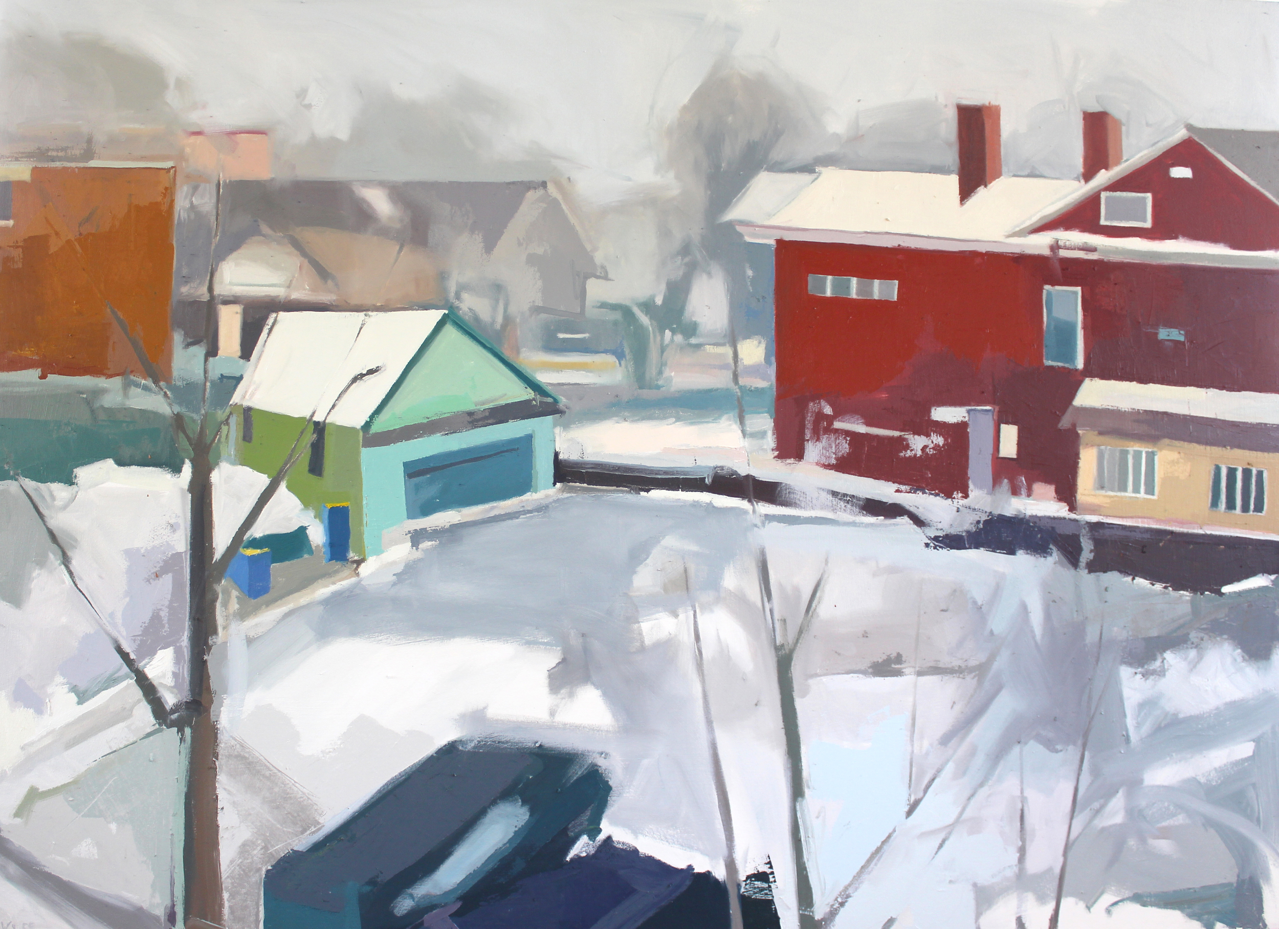 Lot Behind Fulton,  Oil on Canvas 2015