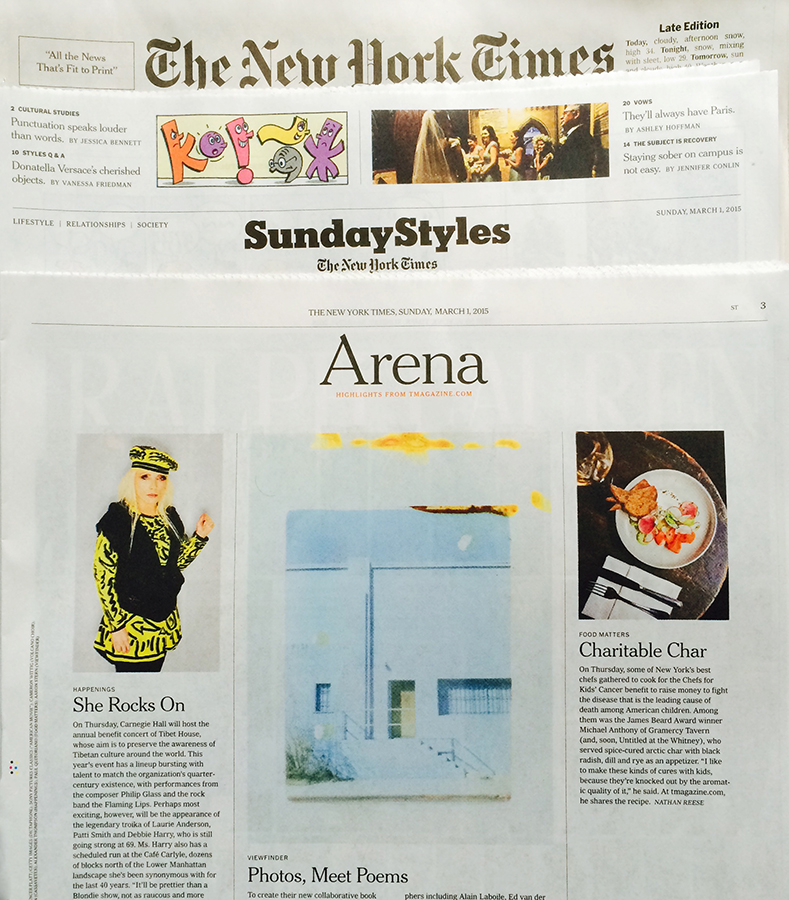 The New York Times, Sunday Styles  Click  HERE  to read the article