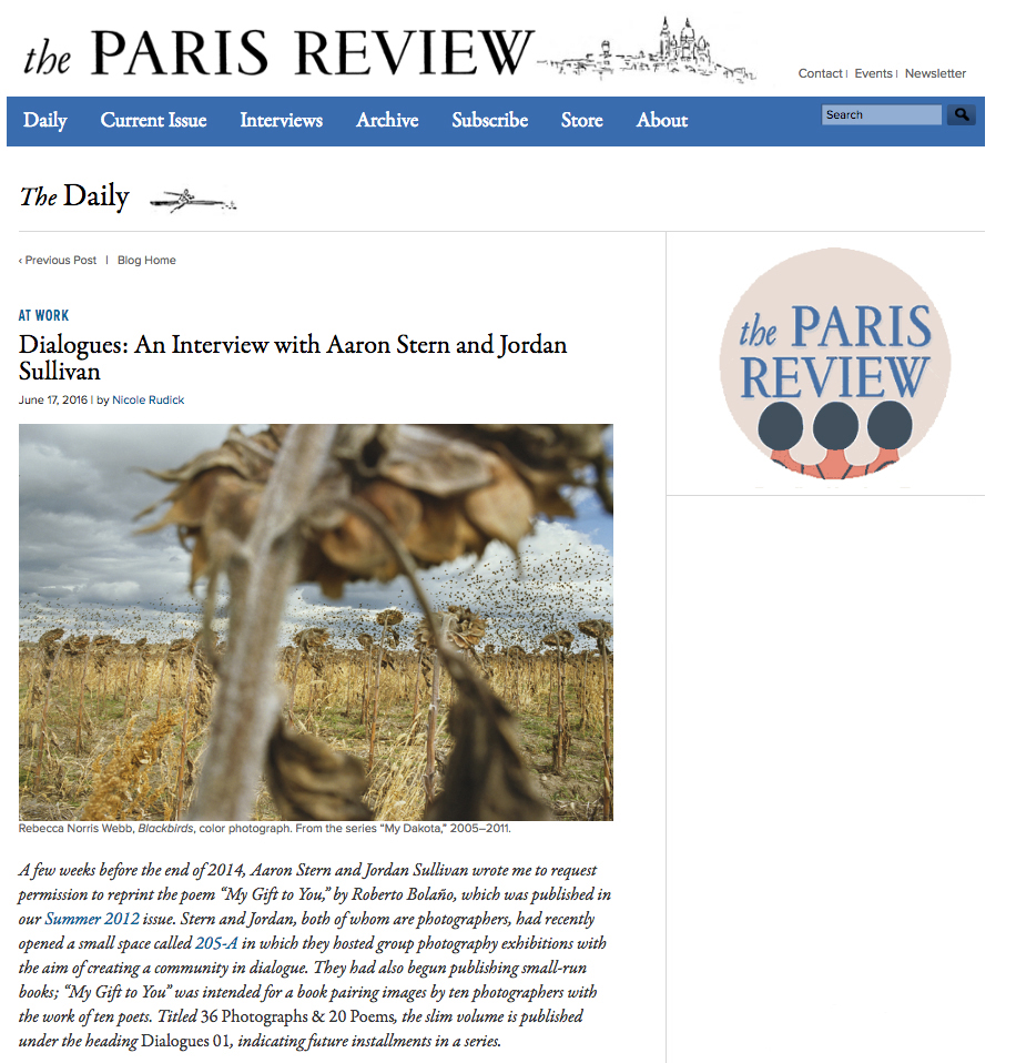 The Paris Review, Click  HERE  to read the full Interview