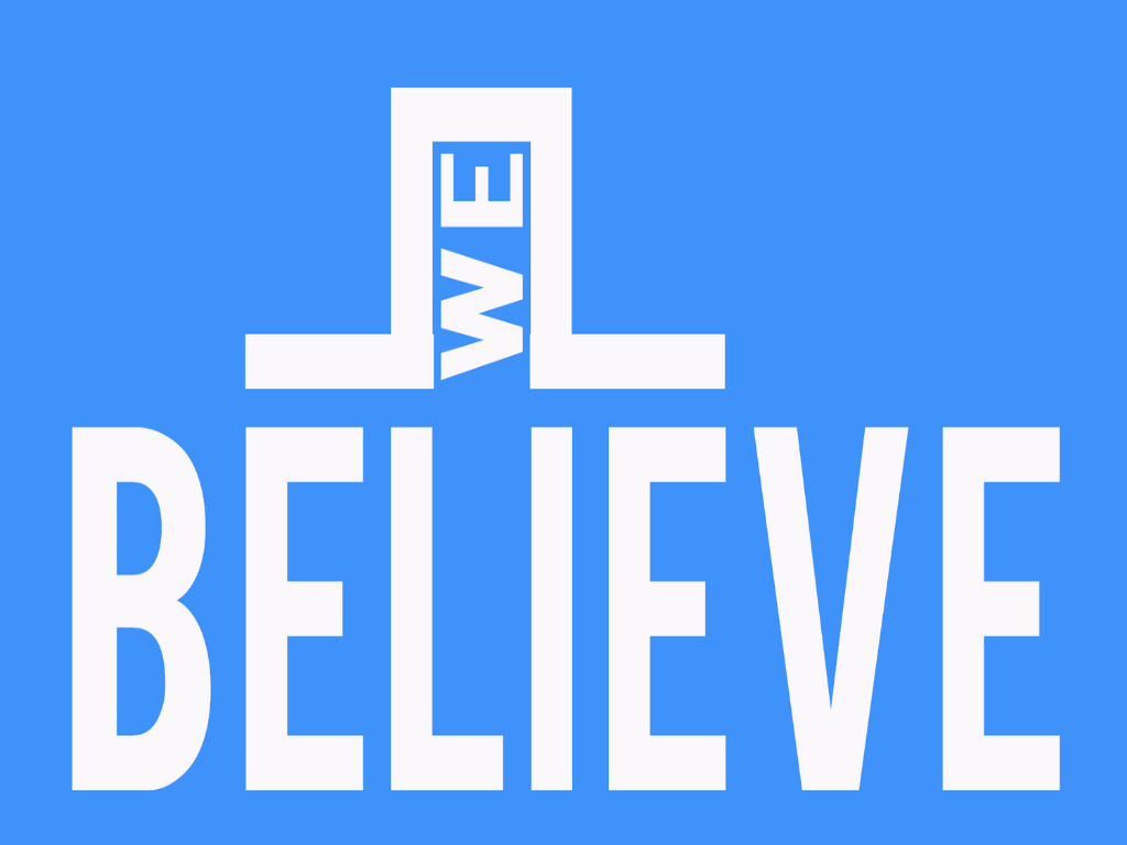 We Believe   5 week series to help your students understand that beliefs determine behavior