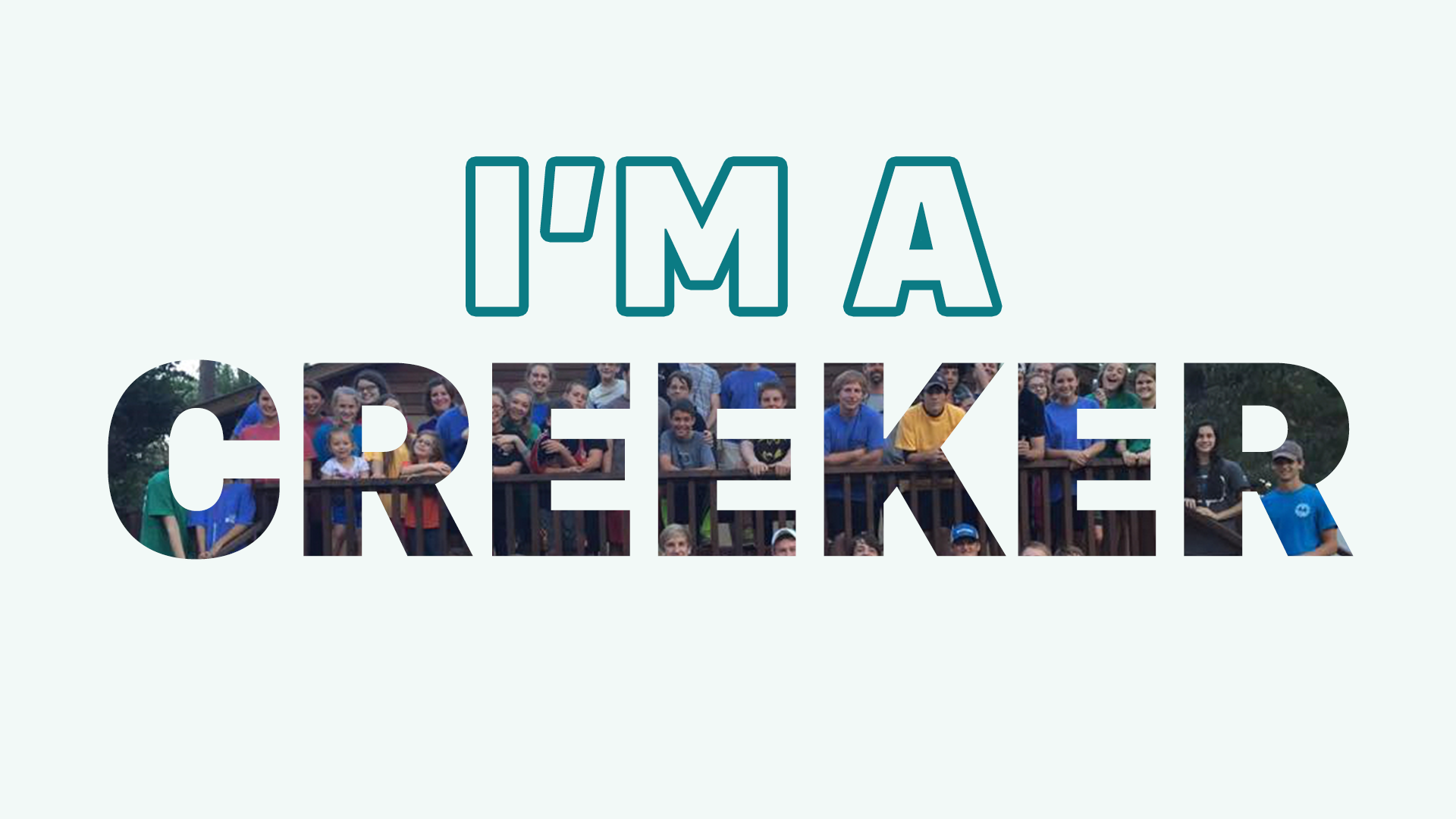 I'M A CREEKER SERIES   5 week series you can repackage to teach your students the purposes of your youth ministry