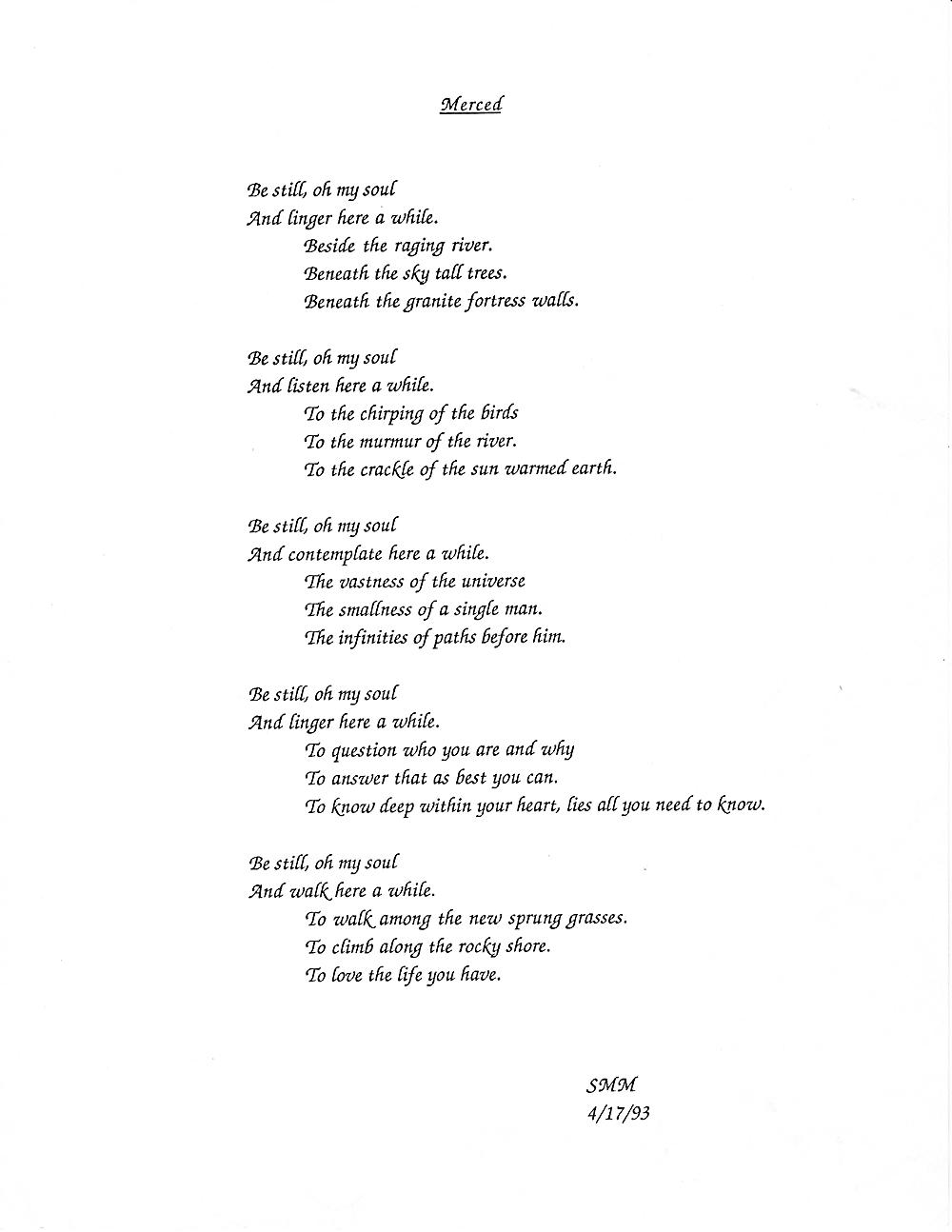 Mark's poem