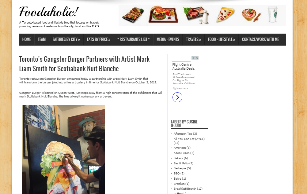 Feature in Foodaholic