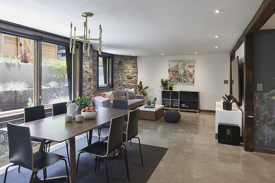 Living Space with Garden Views