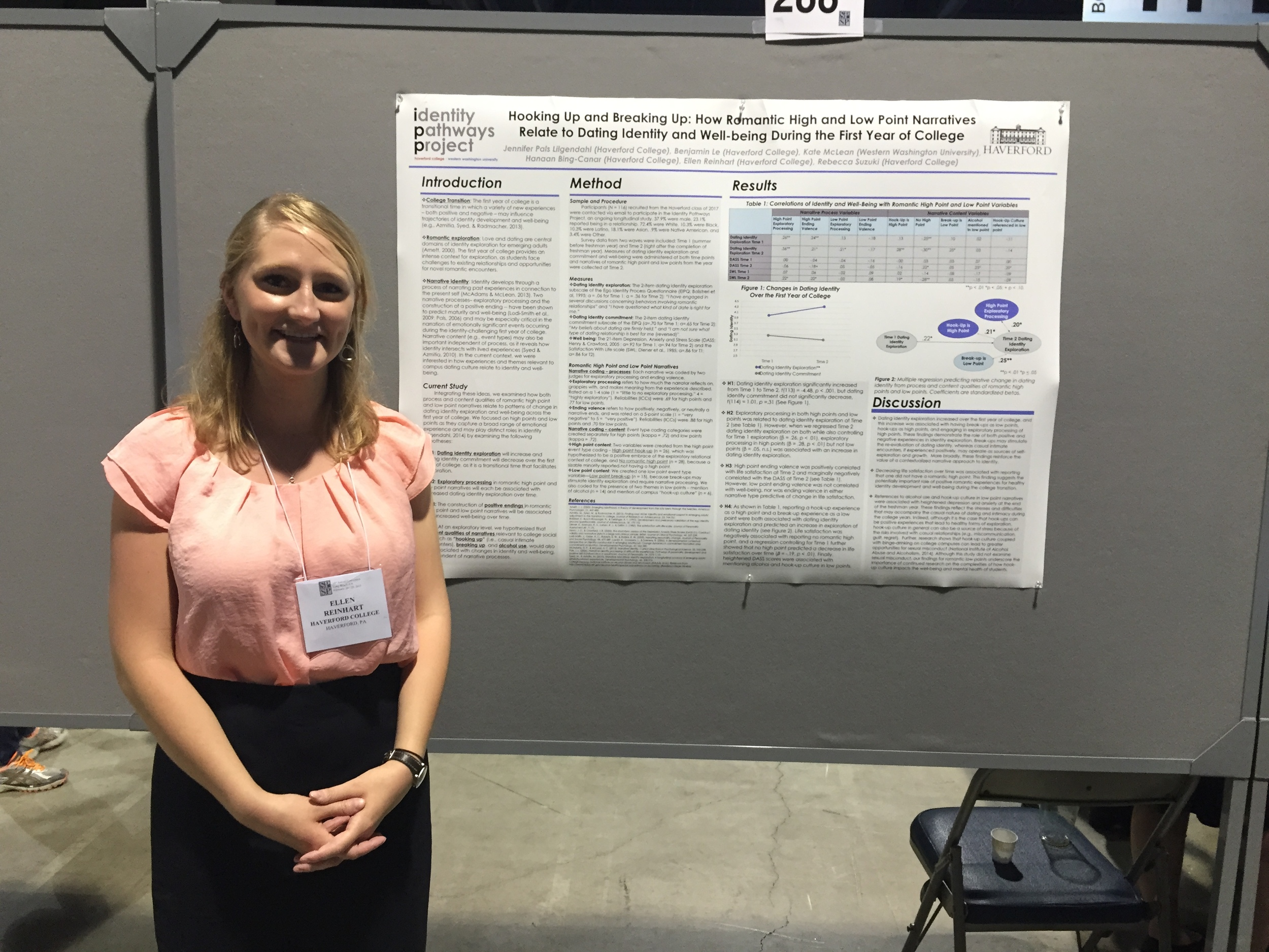 Ellen Reinhart (Haverford College, '15)at the 2015 SPSP conference in Long Beach.