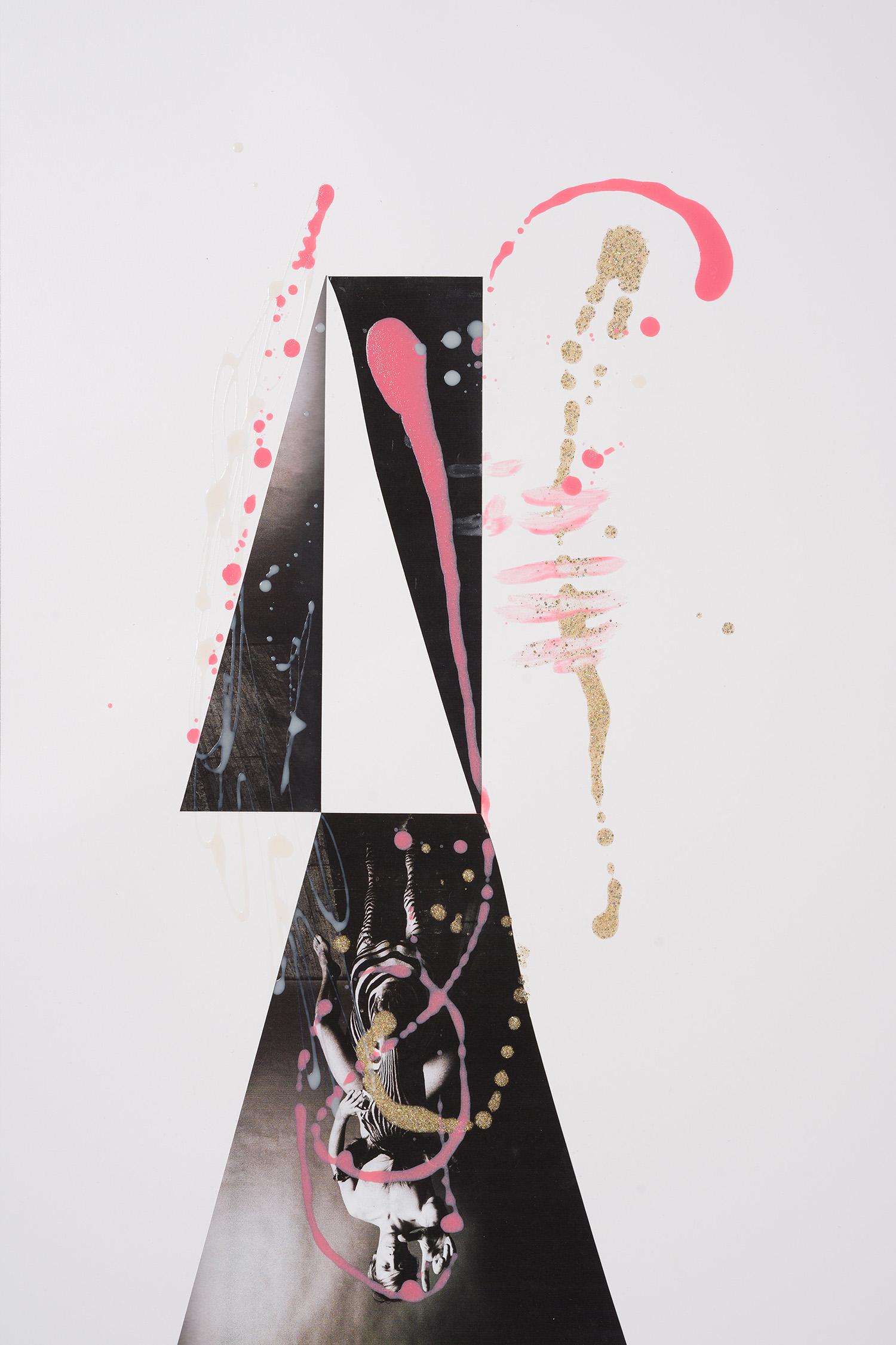 Markues  Eternal Optimist, 2014  mixed media on paper  60 x 40 cm