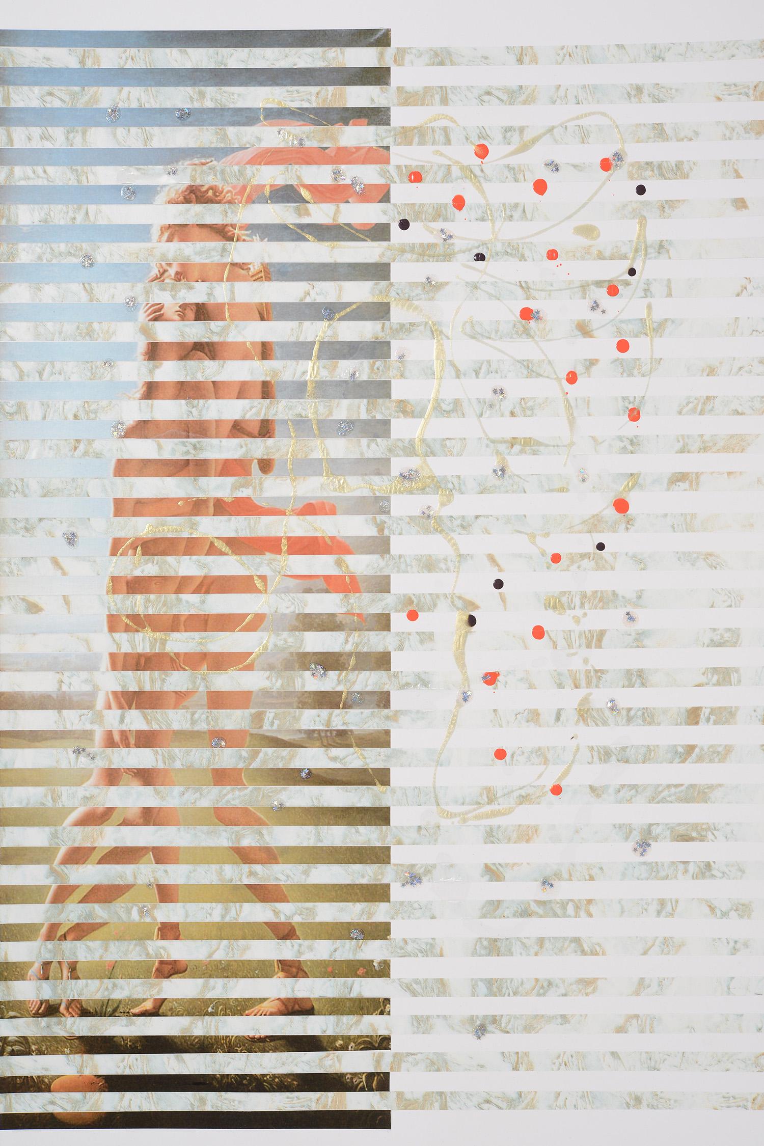 Markues  Falling Stars, 2013  mixed media on paper  60 x 40 cm