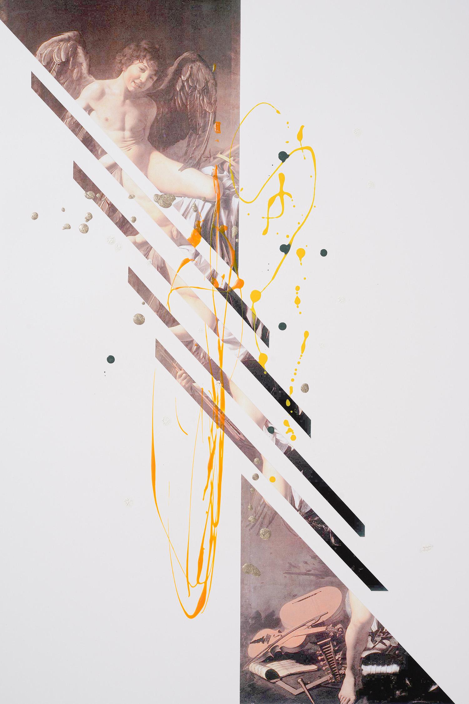 Markues  I'm a Survivor, 2014  mixed media on paper  60 x 40 cm