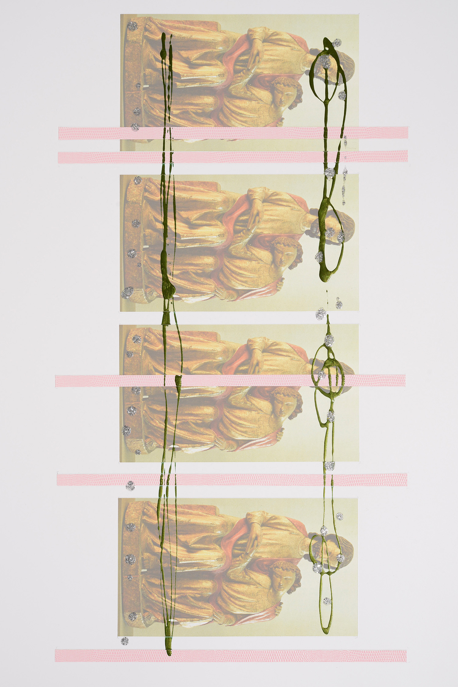 Markues  J Holding J, 2013  mixed media on paper  60 x 40 cm