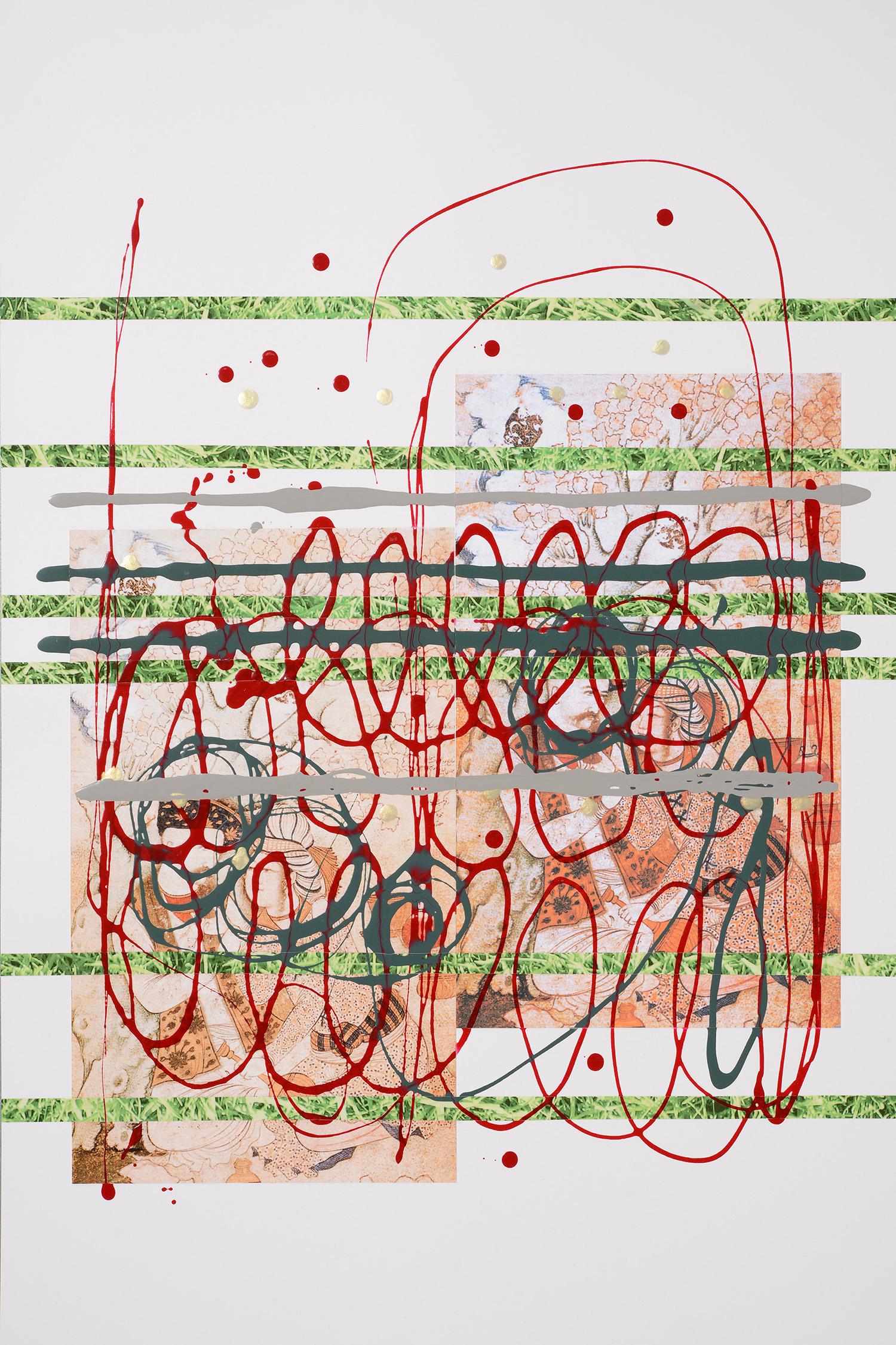 Markues  Secret Rendezvous, 2013  mixed media on paper  60 x 40 cm