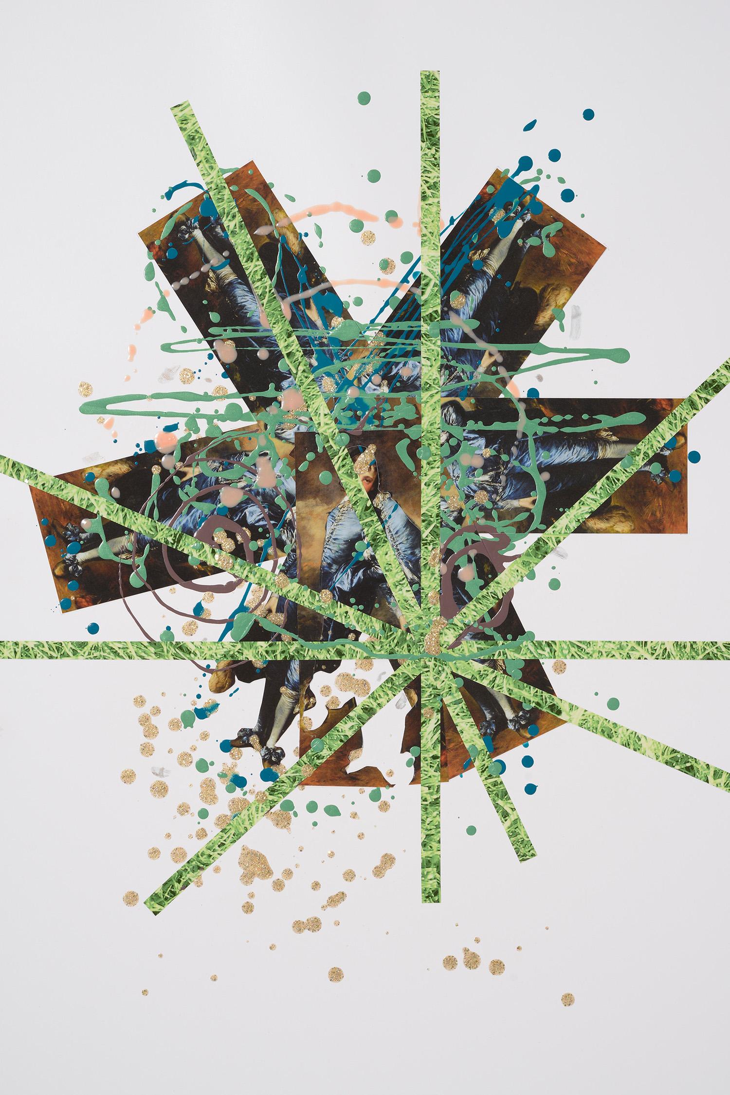 Markues, ItΓÇÖs Golden, 2014, mixed media on paper, 60 x 40 cm.jpg