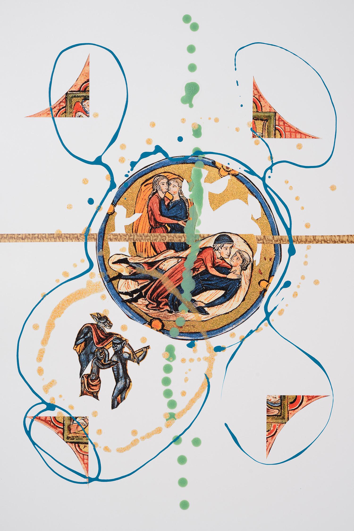 Markues, LetΓÇÖs Get Lost, 2014, mixed media on paper, 60 x 40 cm.jpg