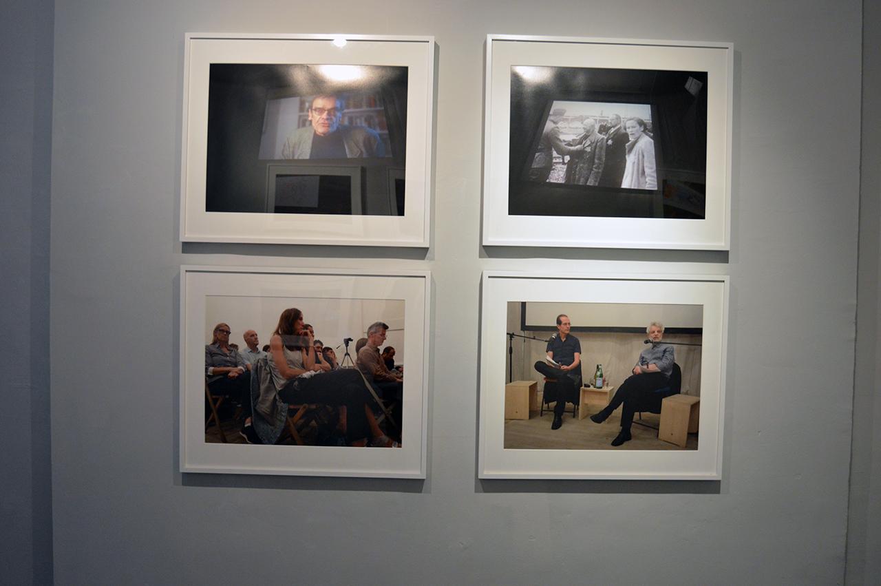 Rainer Ganahl   S/L,   Alexander   Alberro  , Thomas   Elsaesser  , Harun   Farocki  , Artists Space, New York, 9/8/2014    4 photographs, 20 x 24, Edition   2 of 4, 2015