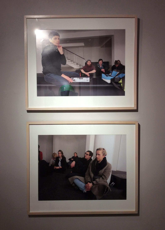 "Rainer Ganahl; S/L, Yael Bartana, Yael Bartana, Capitainpetzel, Berlin 2/27/2015;  4 photographs, 20"" x 24"", Edition of 4; 2015"