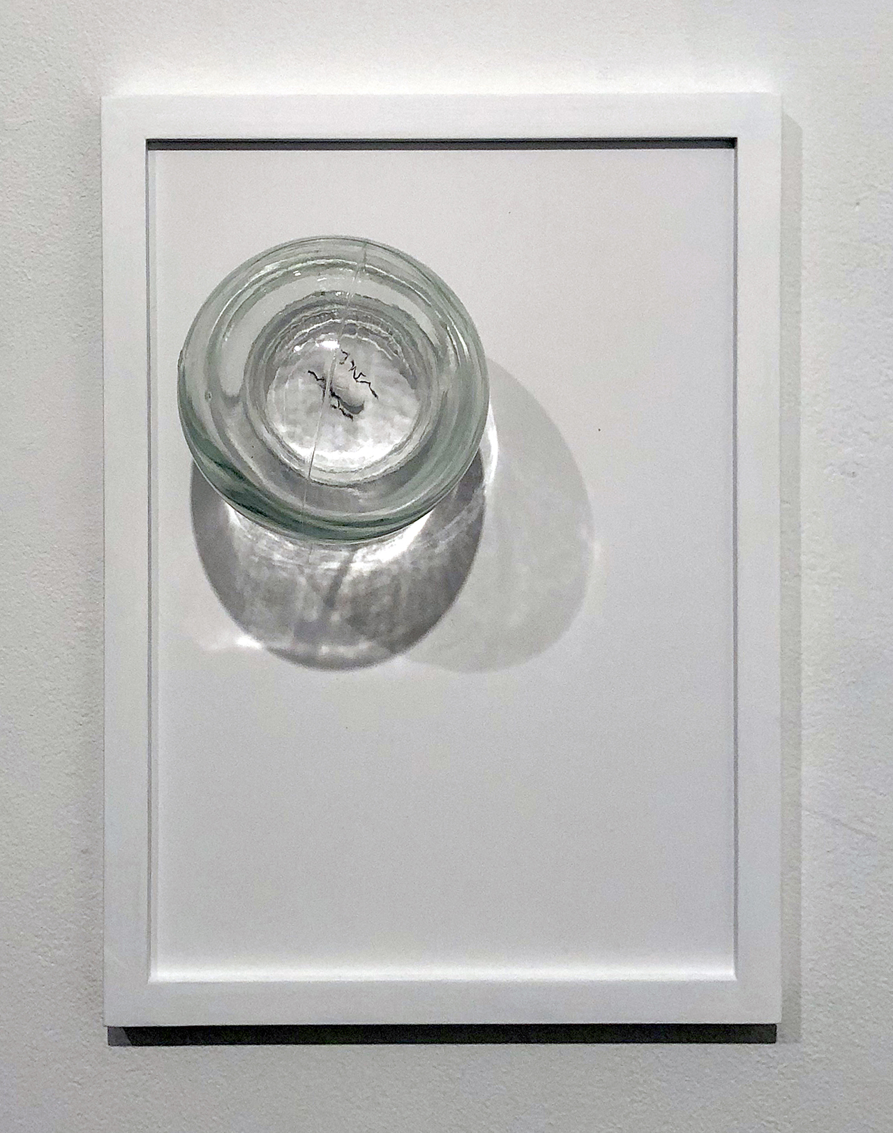 "Copy of Maryam Jafri. ANT (Automatic Negative Thought) (2017). 12""x 5""x 9"". Inkjet on paper, graphite, pill, cupping glass"