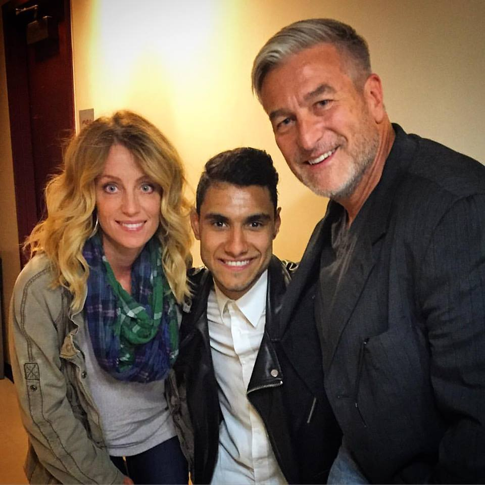 """Rose Wagner Performing Arts Center."" Salt Lake City, Utah U.S.A - Left to Right; Tonya M. Olsen, Emmanuel Kelly (Recording Artist/Speaker and X Factor Star), Jeffery C. Olsen"