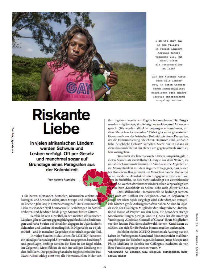 Riskante Liebe  (Risky Love) | fluter, Nr. 59, Summer 2016, page 32