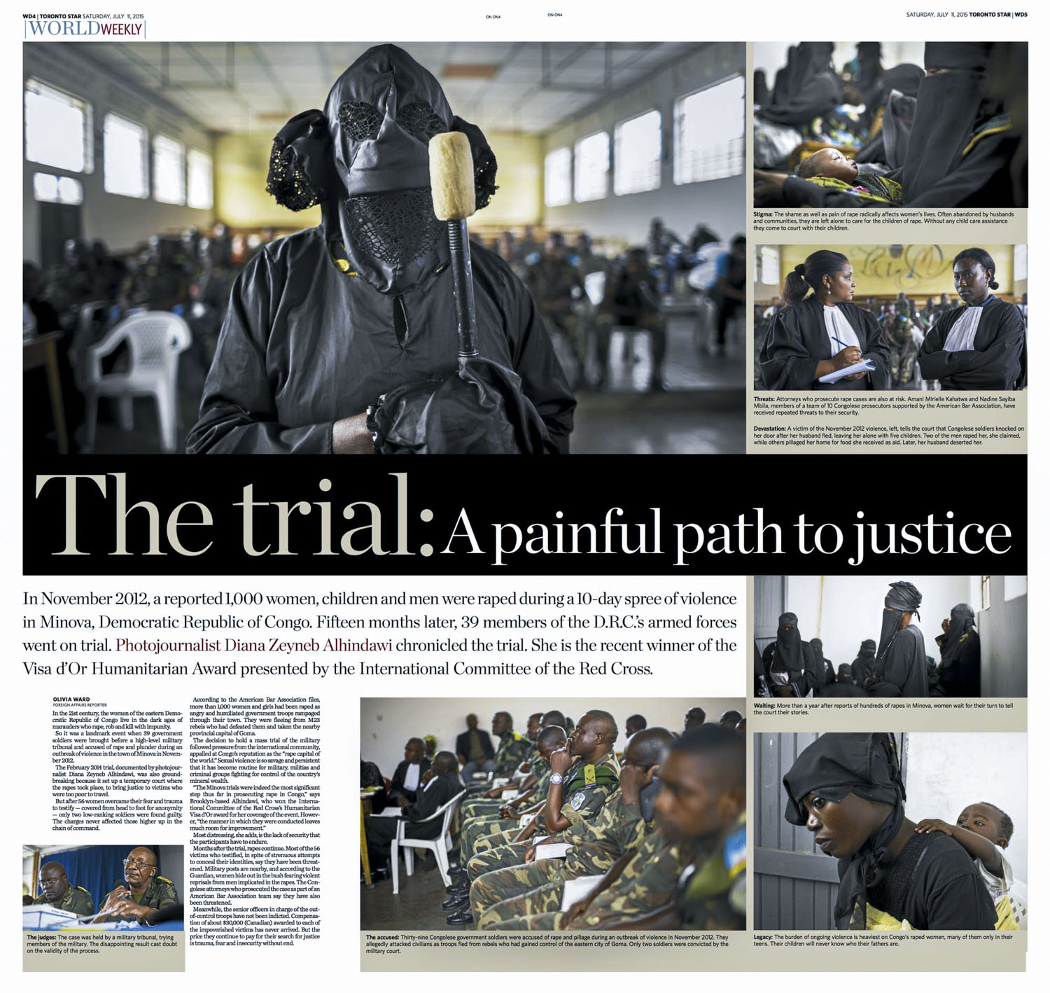 The trial: A painful path to justice | The Toronto Star, July 11 2015, pages WD4-5