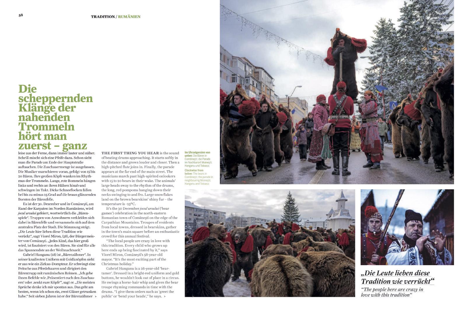 Da steppt der bar  (Follow the bear)  | Airberlin Magazine, Dec 2016, pages 4, 56-64