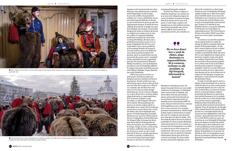 Diana Zeyneb Alhindawi,fotograf fărăfrontiere   (Diana Zeyneb Alhindawi, photographer without borders) | Sinteza (print), pages 188-195, Jan 2016