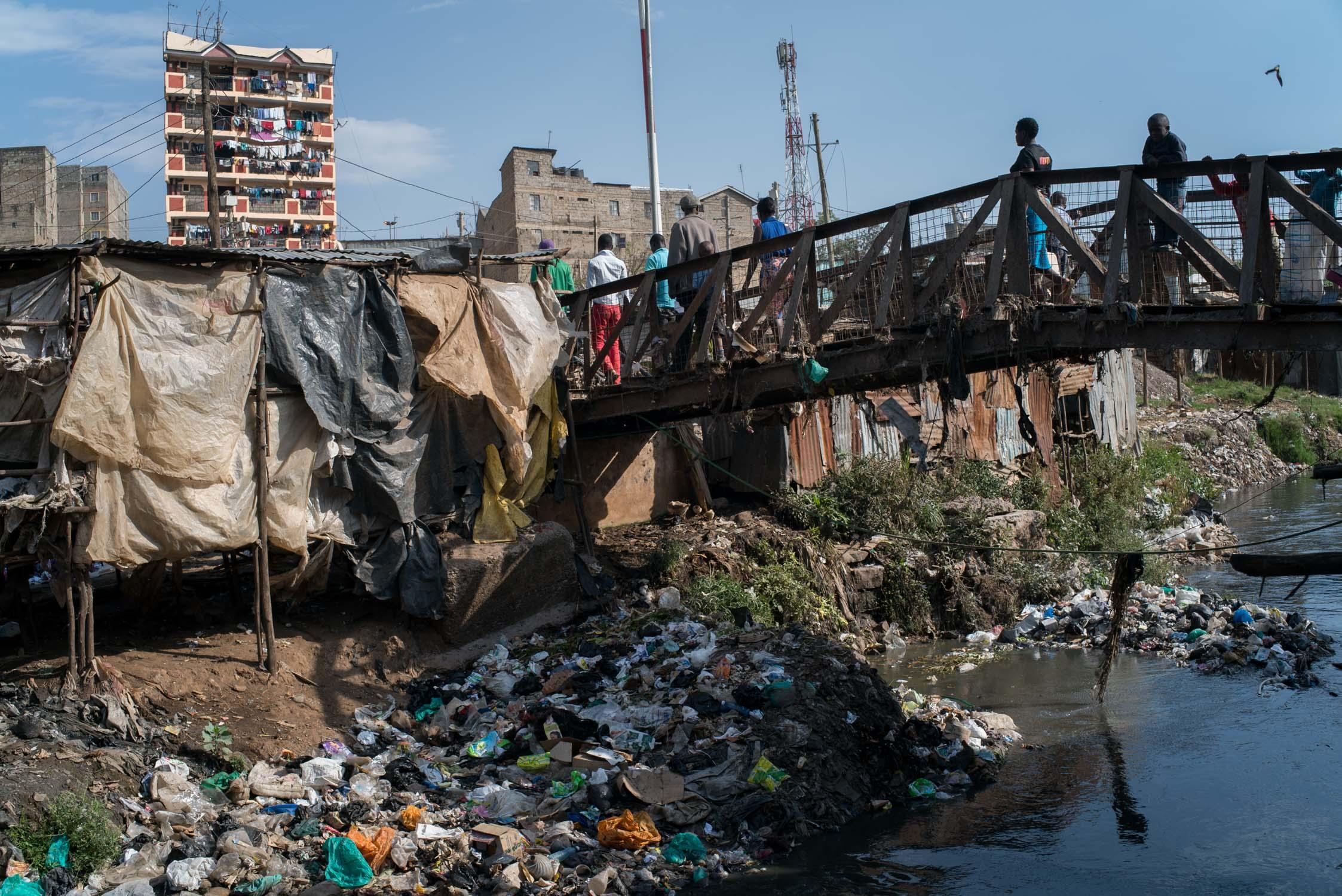 Mathare slum in Nairobi, Kenya. September 19, 2016.
