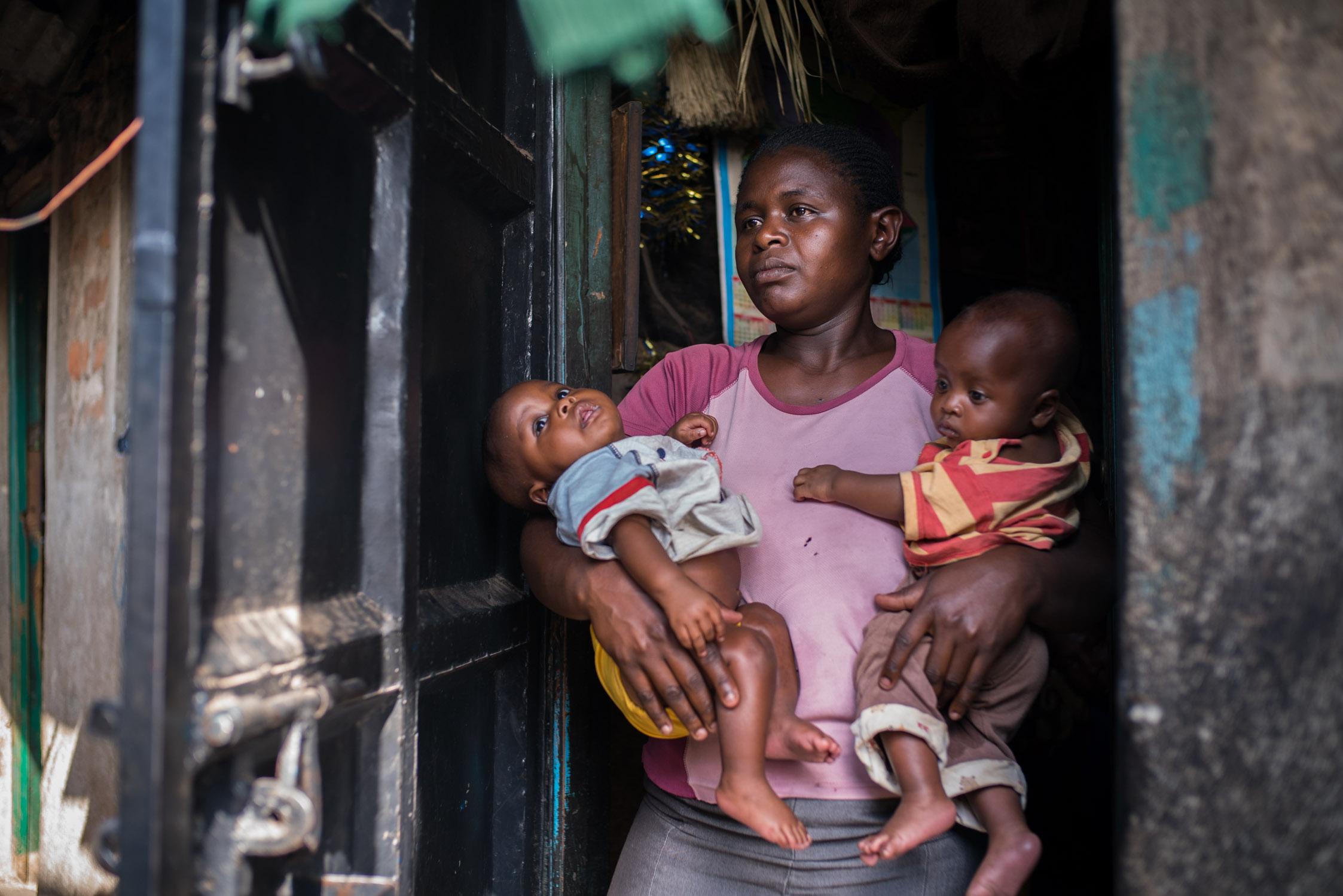 Mathare slum area of Nairobi. September 19, 2016. Nairobi, Kenya.