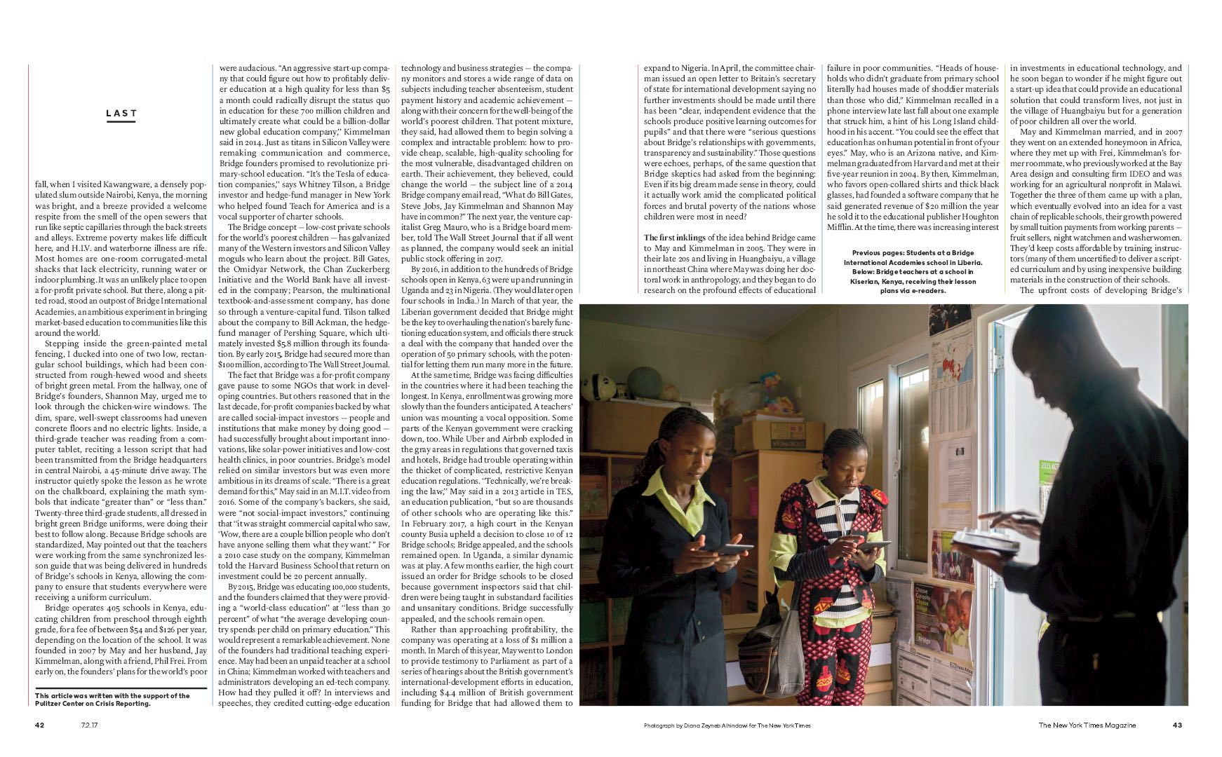 Diana Zeyneb Alhindawi_2017_07_02_New York Times Magazine_page 42 43_bridge education africa s.jpg