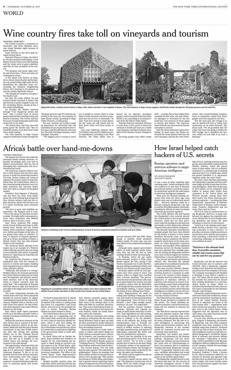 Diana Zeyneb Alhindawi_2017_10_12_International New York Times_page A4_rwanda africa clothing manufacturing agoa.jpg