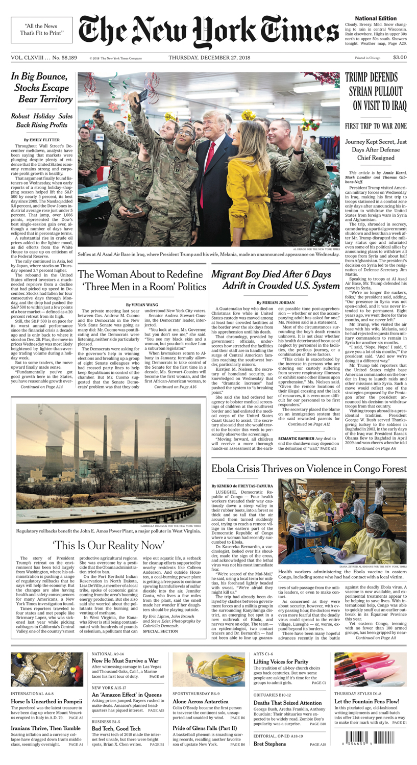 Diana Zeyneb Alhindawi_2018_12_28_New York Times national edition_page A1_ebola congo drc_lower res.jpg