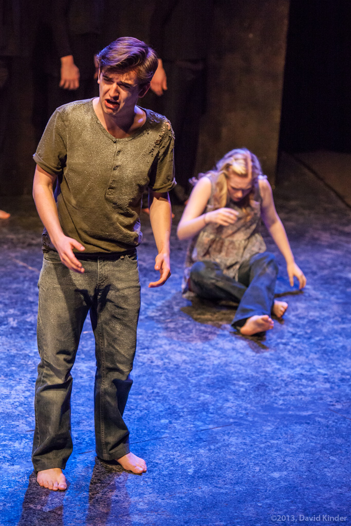 Tristan Comella as Manny and Ashlee Waldbauer as Riley in  Cough