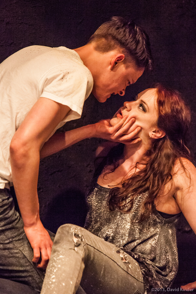 Jacob Orr as Davin and Jessica Tidd as Tess in Easy