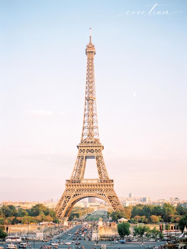 Paris Eiffel Tower shot on Film Contax 645